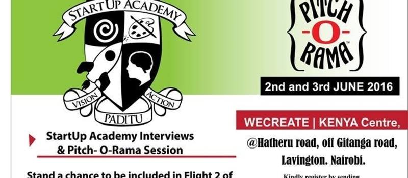 Pitch-O-Rama & StartUp Academy Interviews 2nd & 3rd 2016