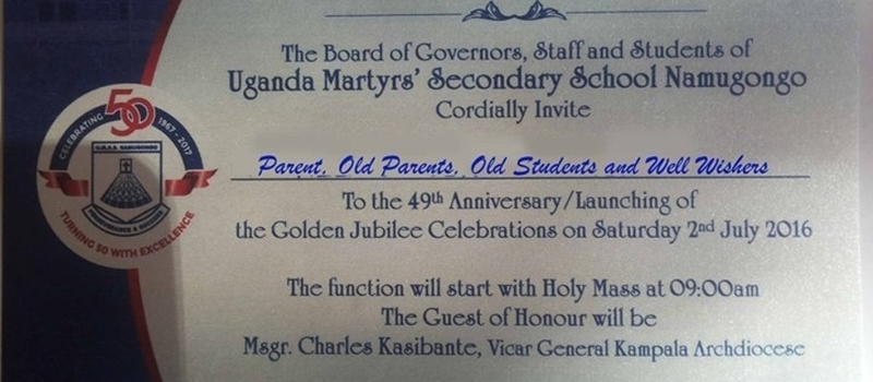 Launch of Golden Jubilee Celebrations