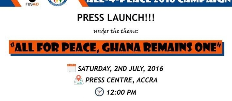 All for Peace Campaign Launch