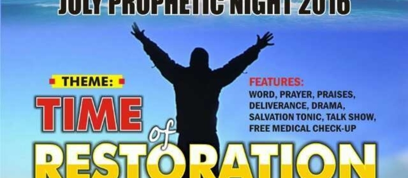 ABUJA, NIGER AND NASARAWA PROPHETS & PROPHETESS COUNCIL. PROPHETIC NIGHT