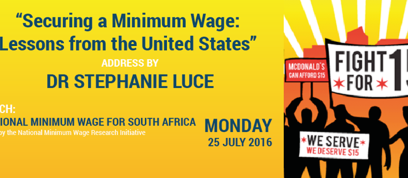 Launch: a National Minimum Wage for South Africa
