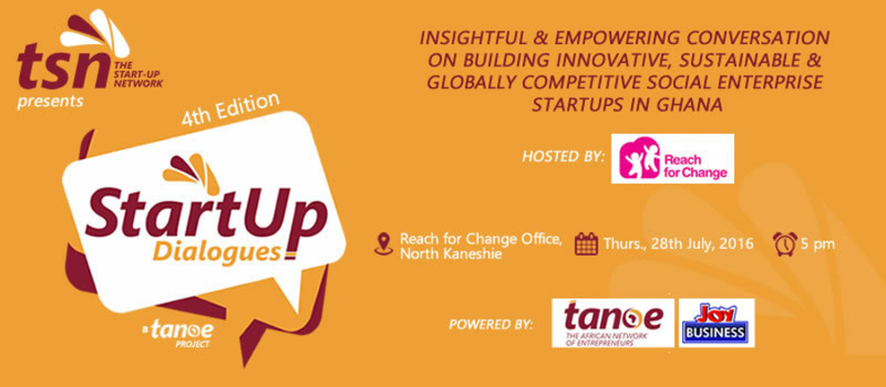 4th Startup Dialogues - Hosted by Reach for Change