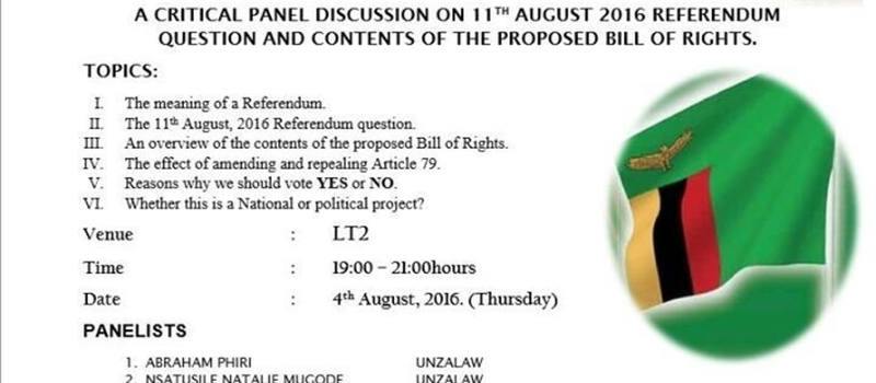 Panel Discussion on the Referendum Question and Bill Of Rights.