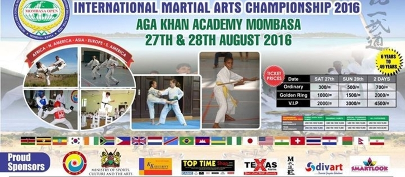 MOMBASA OPEN TONG-IL MOO-DO INTERNATIONAL MARTIAL ARTS CHAMPIONSHIP 2016