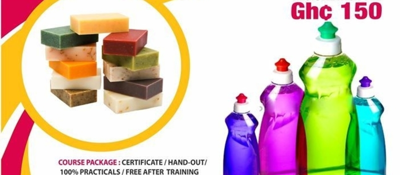 Bar soaps and liquid soaps workshop