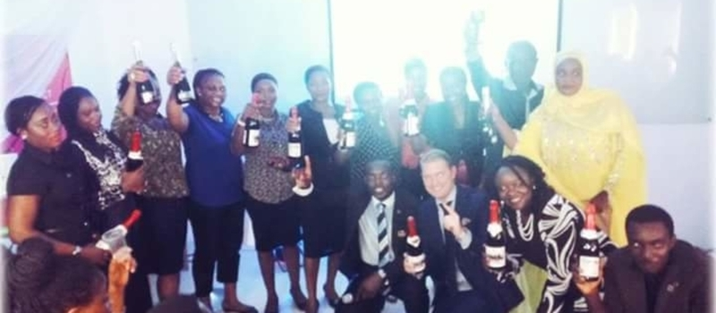 WINE PARTY AT IKEJA ORIFLAME OFFICE