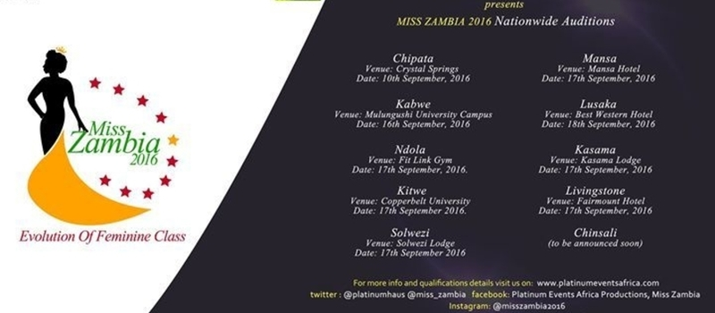 Miss Zambia 2016 Nationwide Auditions- Kabwe
