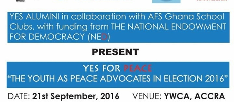 YESForPeace2016 Launch