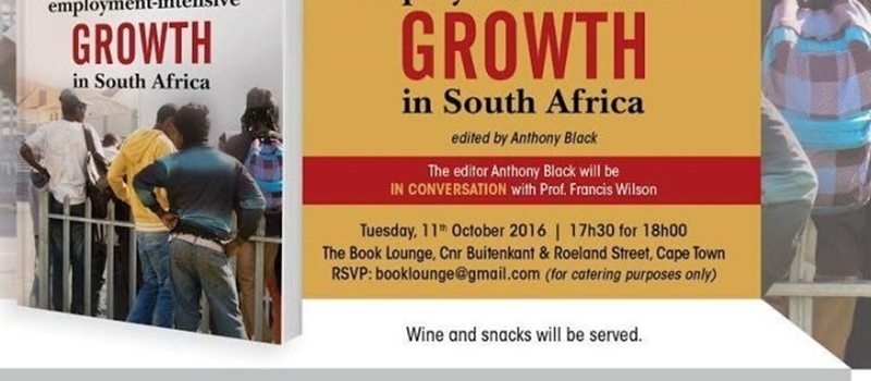 Launch of Towards Employment-Intensive Growth in South Africa