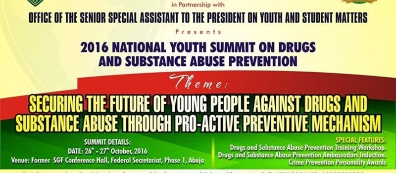 2016 National Youth Summit on Drugs/substance Abuse Prevention