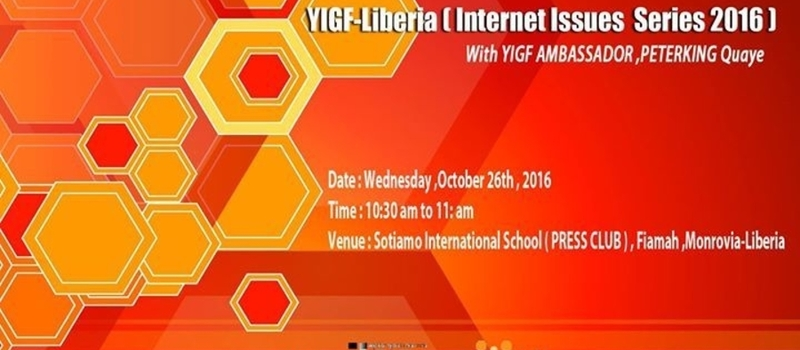 YIGF-Liberia ( Internet Issues Series 2016 ) School Tour