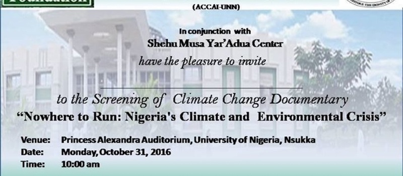 No Where to Run;: Nigeria's Climate and Environmental Crisis