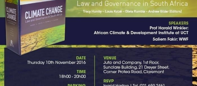 Climate Change: Law and Governance in South Africa Book Launch