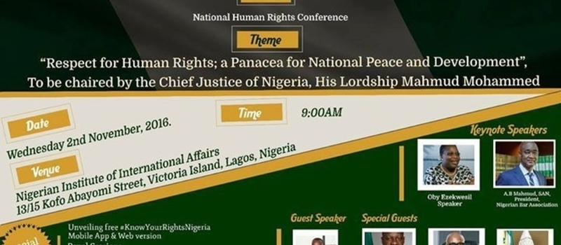 Unveilling #KnowYourRightsNigeria App at Human Rights Conference