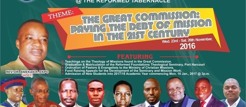 2016 Nigerian Reformed Bible & Theological Conference