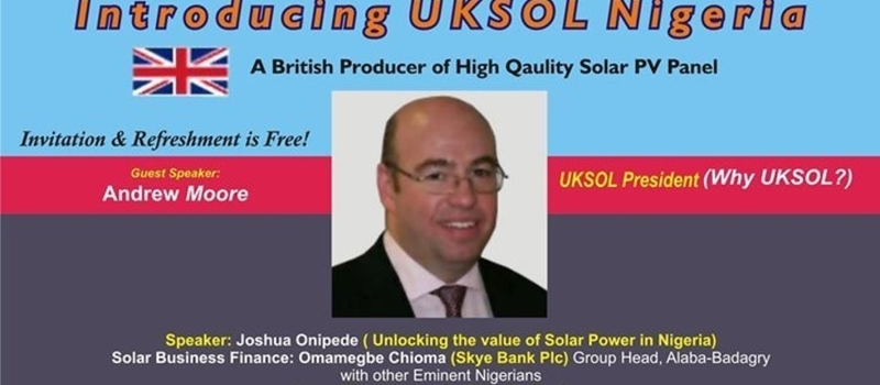 UKSOL Solar Panels Nigeria Launch Event