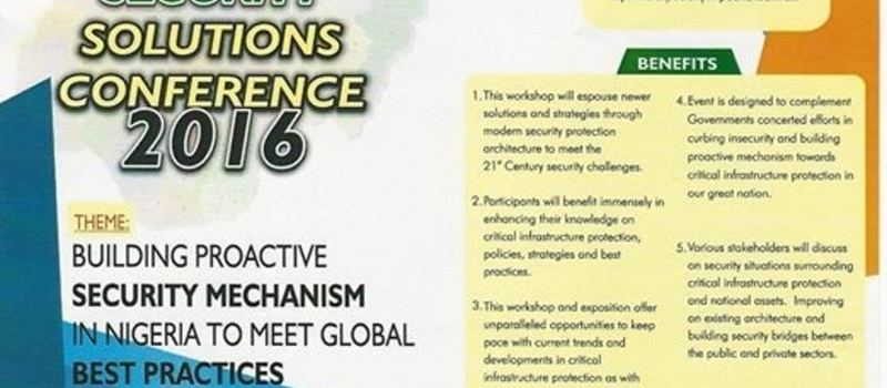Nigeria Security Solutions Conference 2016