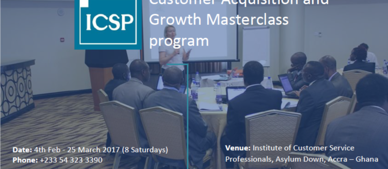 Customer Acquisition and Growth Masterclass program