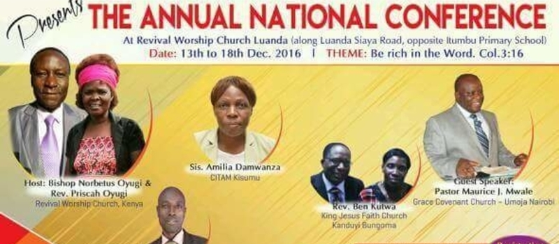 The Annual National Conference at Revival Worship Church Kenya