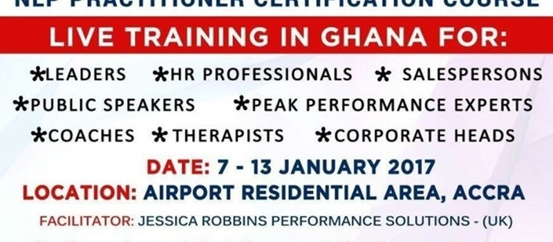 NLP Practitioner Certification Course, Ghana