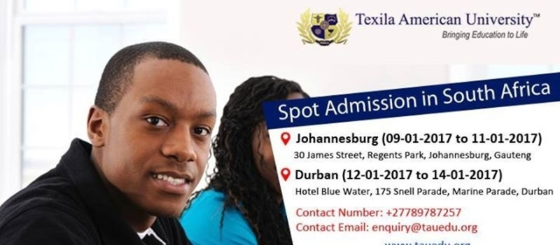 Spot Admission in Durban,South Africa