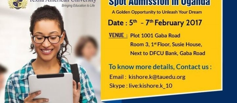 On Spot Admission in Uganda