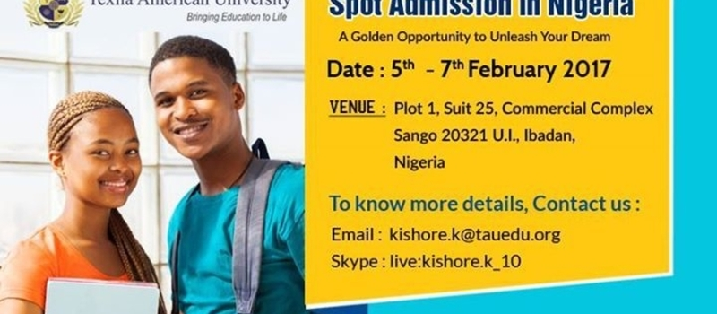 On Spot Admission in Nigeria