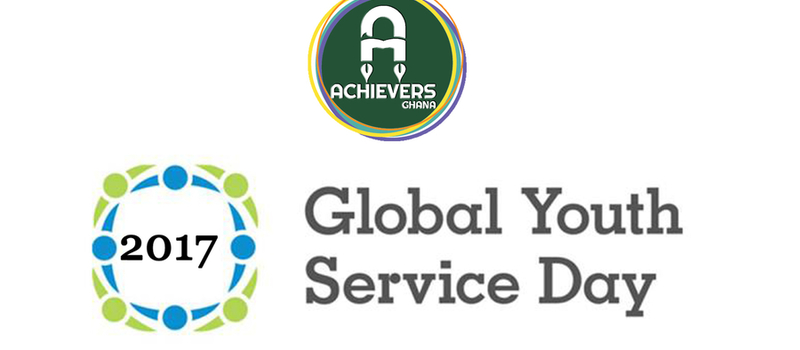 Volunteer at Achievers Ghana Education Global Youth Service Day Event.
