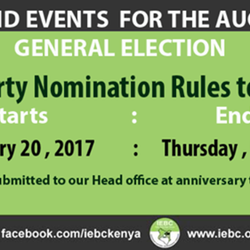 Submission of Party Nomination Rules