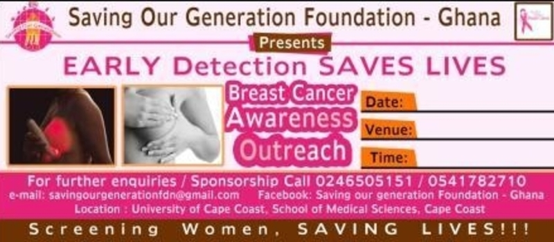 Breast Screening At Kwame Nkrumah Hall, University of Cape Coast
