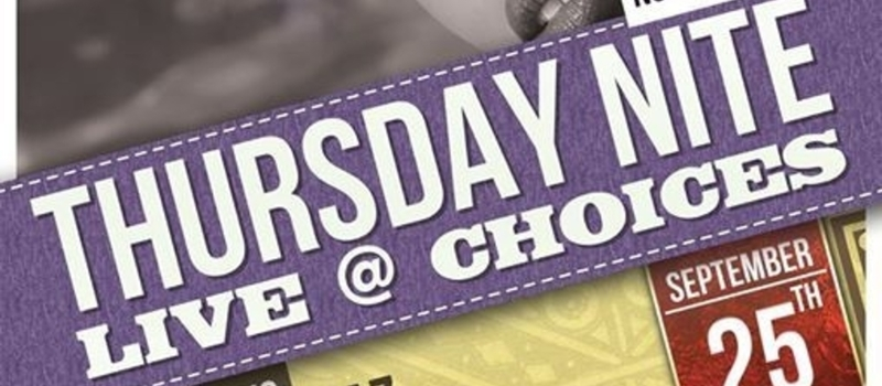 Roots Intl presents Thursday Nite Live @ Choices featuring KAZ