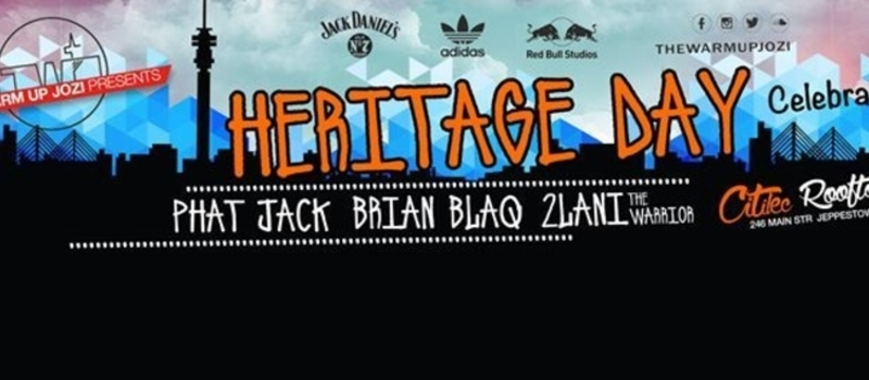 The Warm Up Jozi Heritage Day Rooftop Party