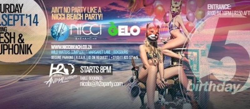 NICCI BEACH 5th BIRTHDAY with FRESH & EUPHONIK
