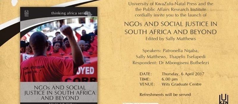NGOs and Social Justice in South Africa and Beyond: Book Launch