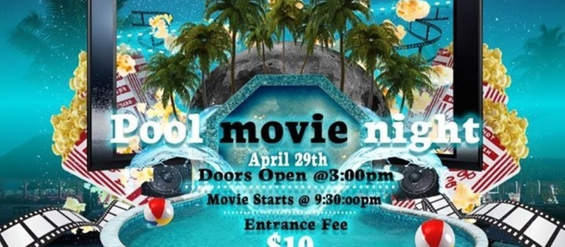 Pool movie night