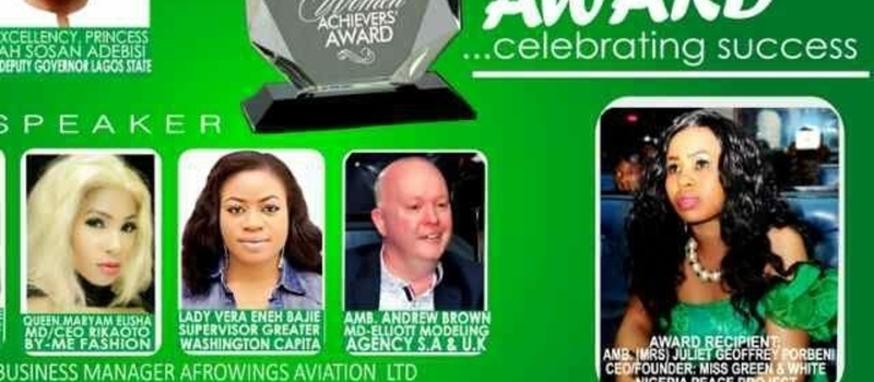 MISS GREEN AND WHITE NIGERIA ARCHIVERS AWARD 2017