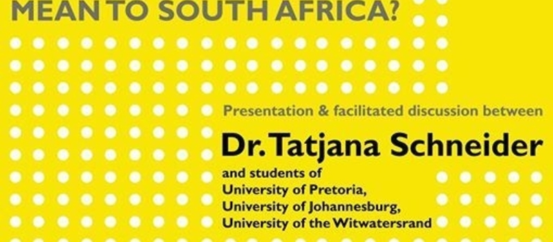 Spatial Agency in South Africa - Student Discussion