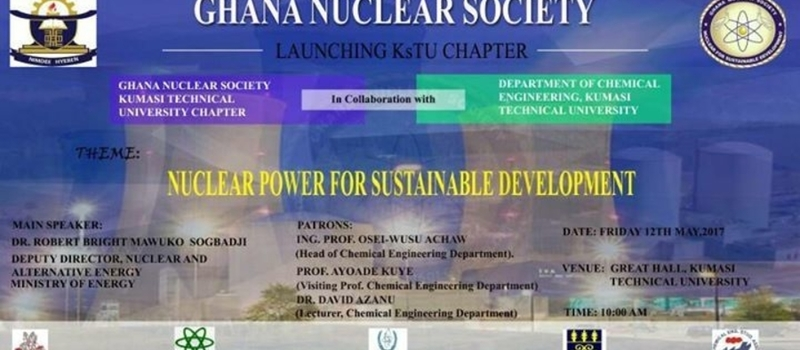 Ghana Nuclear Society KsTU Student Chapter Official Inauguration.