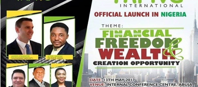 Thrive Int - Official Launch in Nigeria 11am - 2pm