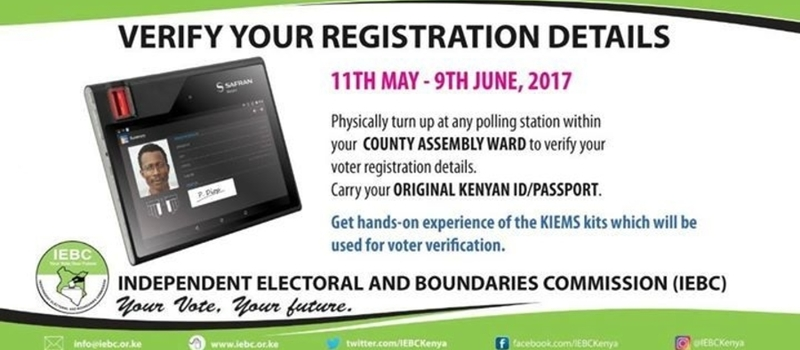 Verification of the Register by Voters
