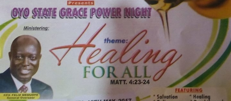 Oyo State Grace Power Night tagged Healing for All.