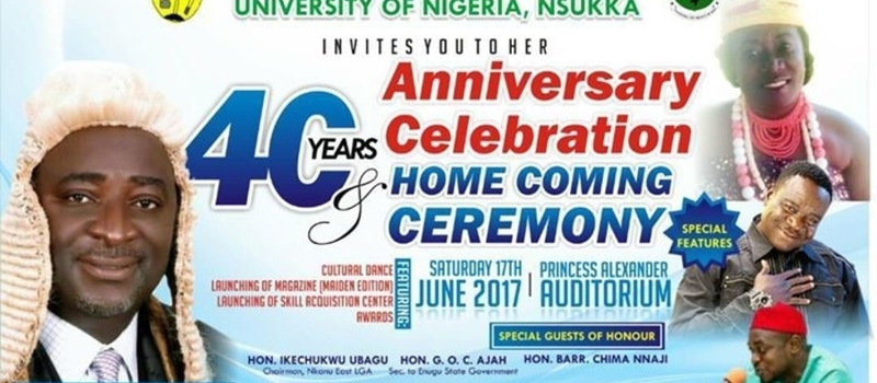 40YRS ANNIVERSARY CELEBRATION AND HOME COMING OF NKANU STUDENTS UNN
