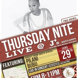 From South Africa Pilani Bubu in Concert Thursday Nite Live