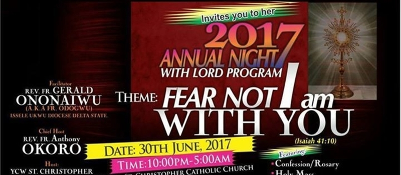 YCW Agege Deanery, Annual Night with the Lord Program