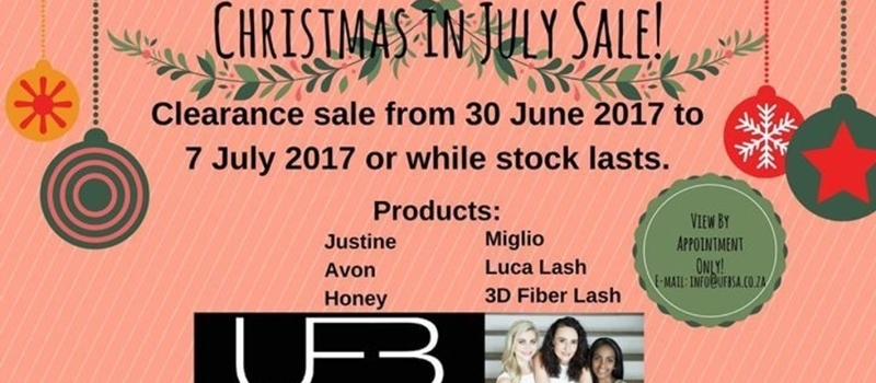 Christmas in July Sale.
