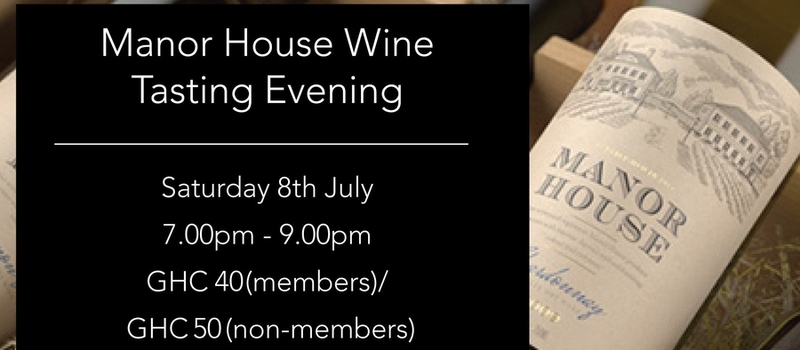 Manor House Wine Tasting Evening