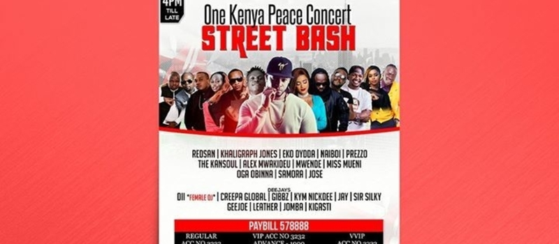 One Kenya Peace Concert Street Bash
