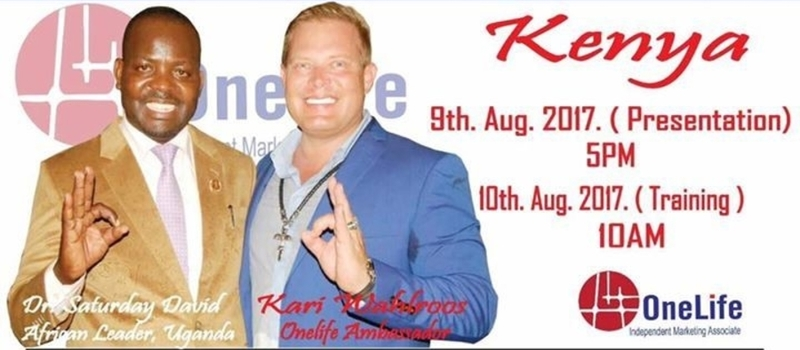 OneLife event and training in Nairobi- Kenya
