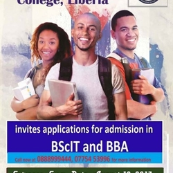 Entrance Exam for BScIT and BBA at BlueCrest University College, Liberia