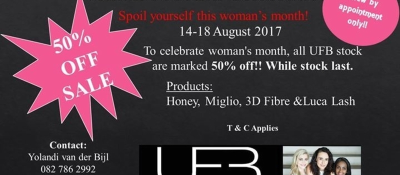 UFB studio 50% Half Price SALE!